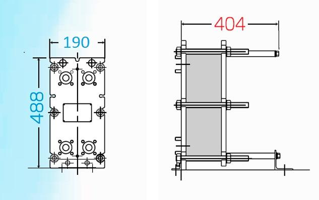 Теплообменник пластинчатый разборный Анвитэк АMХ-30П-83