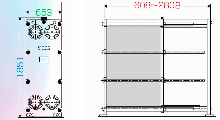 Теплообменник пластинчатый разборный Анвитэк АMХ-150-57