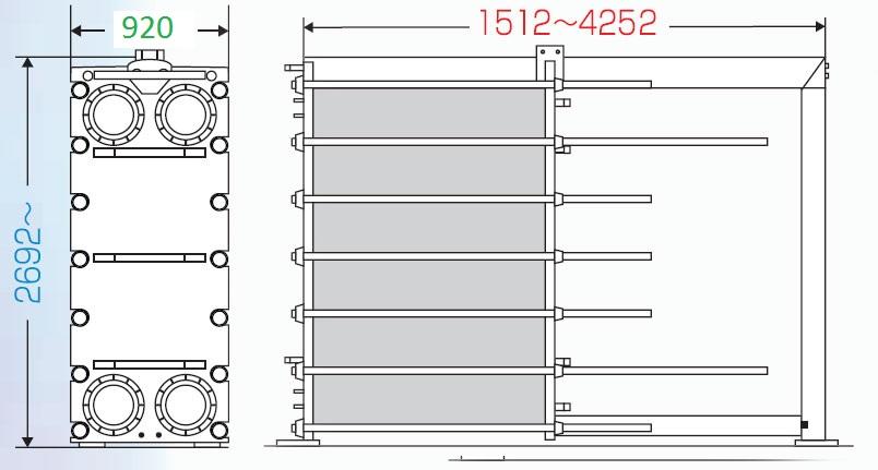 Теплообменник пластинчатый разборный Анвитэк АMХ-250-03
