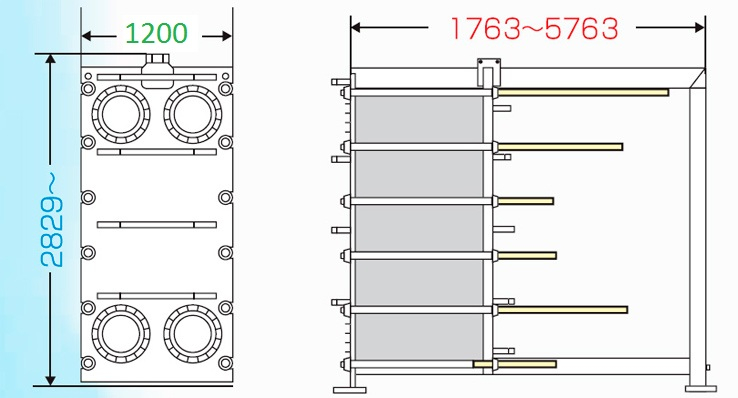 Теплообменник пластинчатый разборный Анвитэк АMХ-300-23
