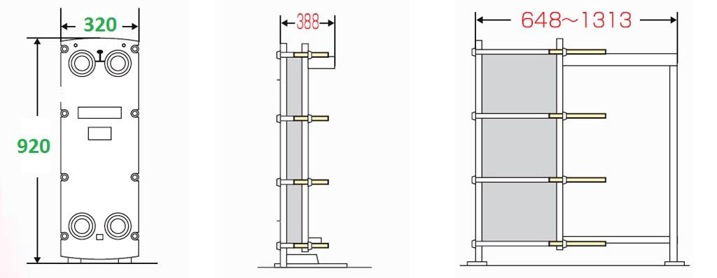 Теплообменник пластинчатый разборный Анвитэк АMХ-60П-189