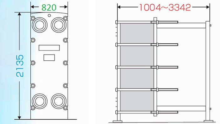 Теплообменник пластинчатый разборный Анвитэк АMХ-200-03