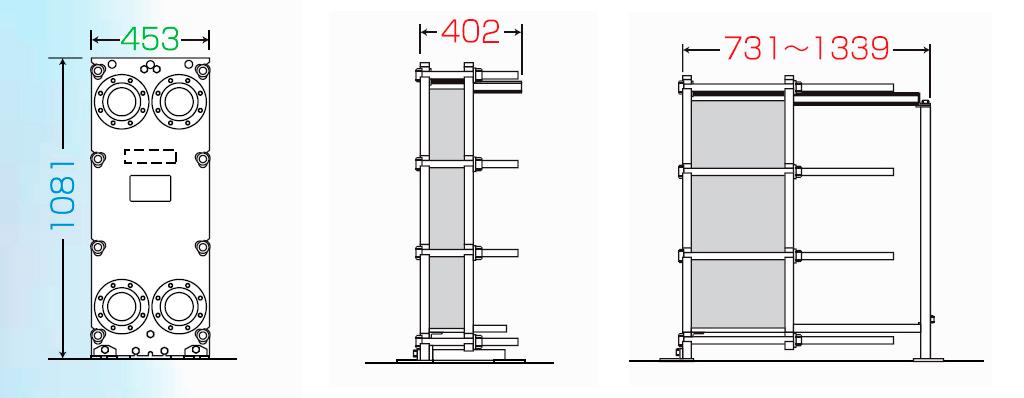 Теплообменник пластинчатый разборный Анвитэк АMХ-100-55