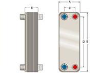 Конструкция паяного теплообменника Анвитэк AK1400-104
