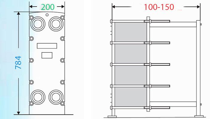 Теплообменник пластинчатый разборный Анвитэк АMХ-40-65
