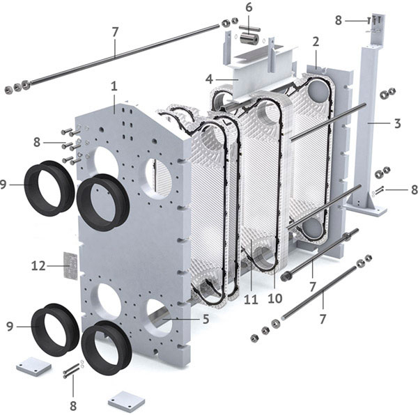 Теплообменник пластинчатый разборный Анвитэк АMХ-60П-43