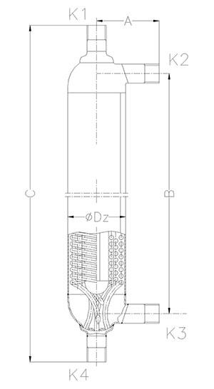 Конструкция кожуховитого теплообменника АН-1 Игла
